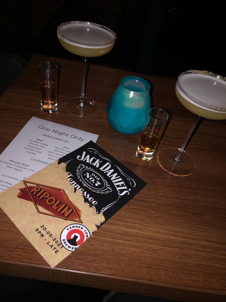An image of drinks from Ripolin, Liverpool